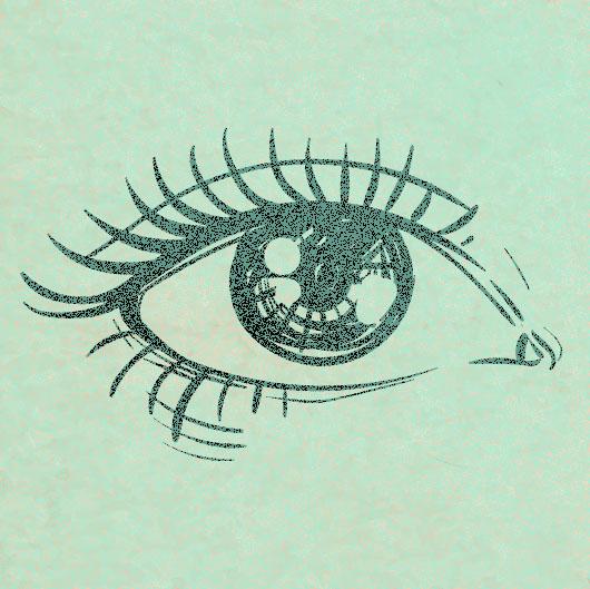 Piirroskuva silmästä